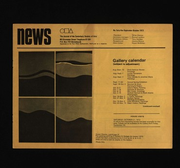 Canterbury Society of Arts News, number 45, September 1972