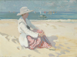 On the beach by Charles Simpson