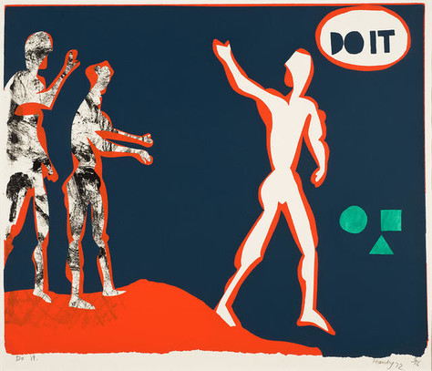 Patrick Hanly Do It 1972. Screenprint. Collection of Christchurch Art Gallery Te Puna o Waiwhetū, presented to the Gallery by the artist, 1991