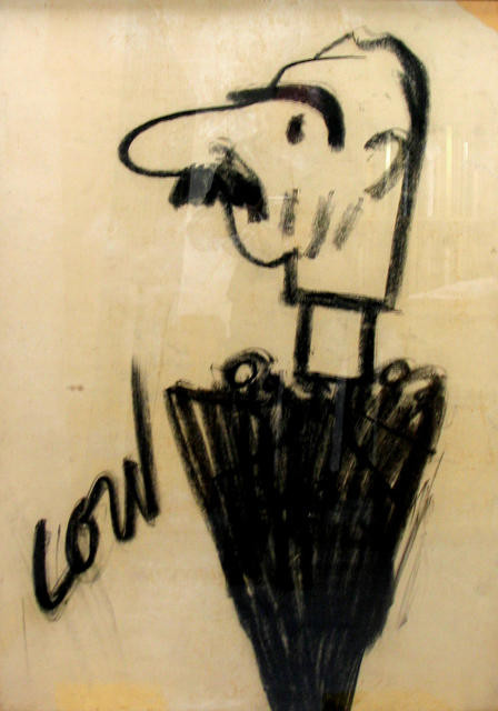 Caricature of Neville Chamberlain