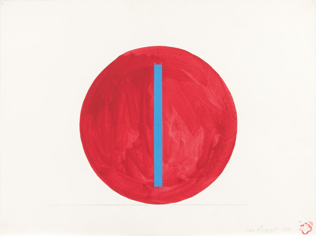 Max Gimblett, Center Turning 1977. Pencil and acrylic polymer on watercolour paper. Collection of Christchurch Art Gallery Te Puna o Waiwhetū 1999, the Max Gimblett and Barbara Kirshenblatt–Gimblett Gift