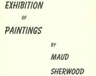 Maud Sherwood 1958 exhibition catalogue