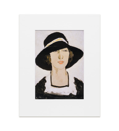 Study, Woman in a Wide Black Hat: Raymond McIntyre - Print