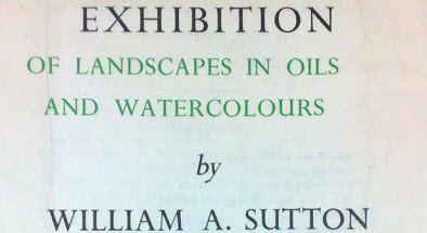 1947 W A Sutton exhibition catalogue