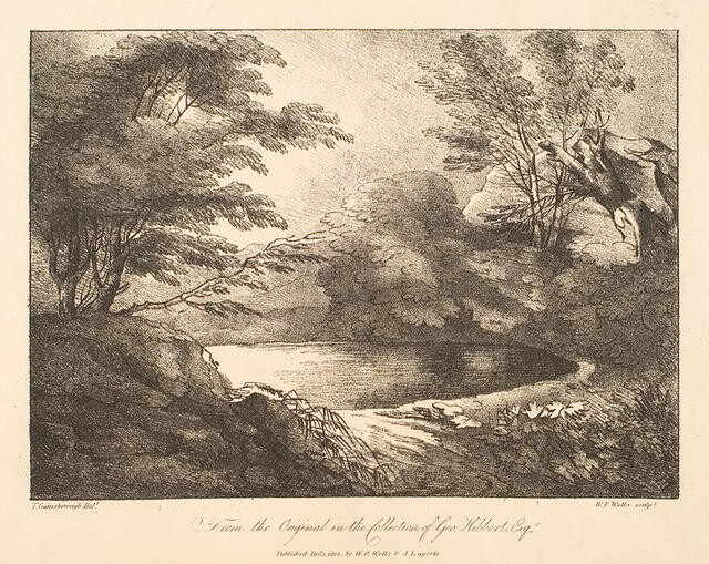 Landscape With Trees And Lane