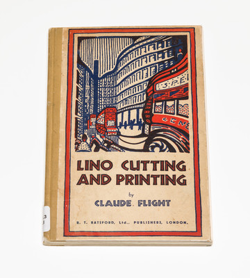 Eileen Mayo's copy of Claude Flight, Lino Cutting and Printing, London, 1934.