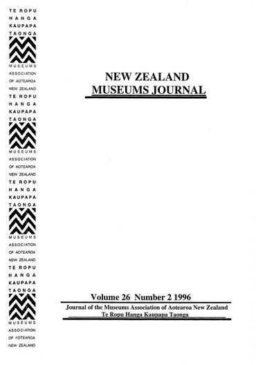NZMJ Volume 26 Number 2 Winter 1996
