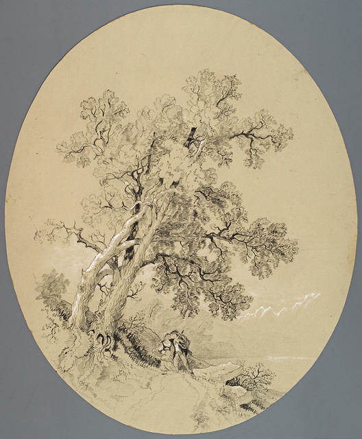 Figures On Pathway Under Trees