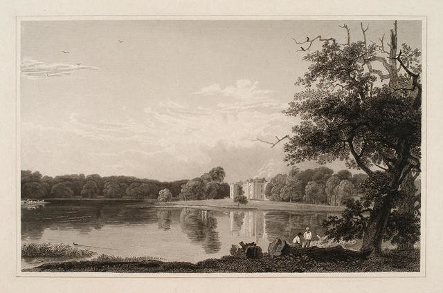 Landscape With Lake and Distant Building