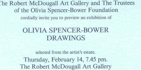 Olivia Spencer Bower: Drawings from the Foundation
