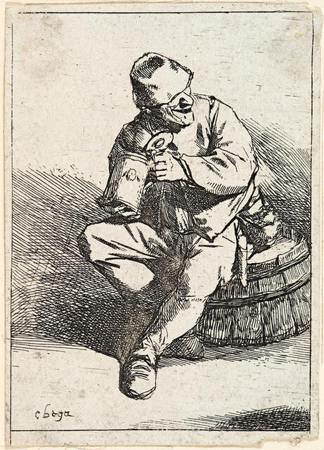 Peasant Drinking From Tankard