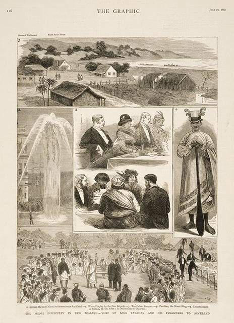 The Maori difficulty in New Zealand - Visit of King Tawhiao and his followers to Auckland
