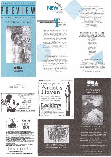 Canterbury Society of Arts Preview, number 180, September 1993