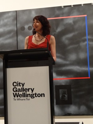 City Gallery Wellington director Elizabeth Caldwell opens the exhibition
