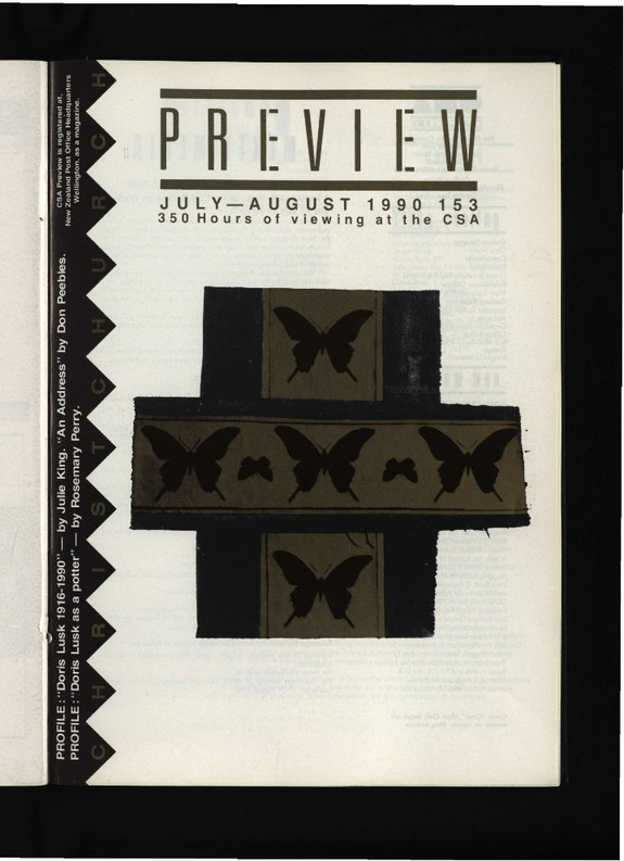 Canterbury Society of Arts Preview, number 153, July/August 1990
