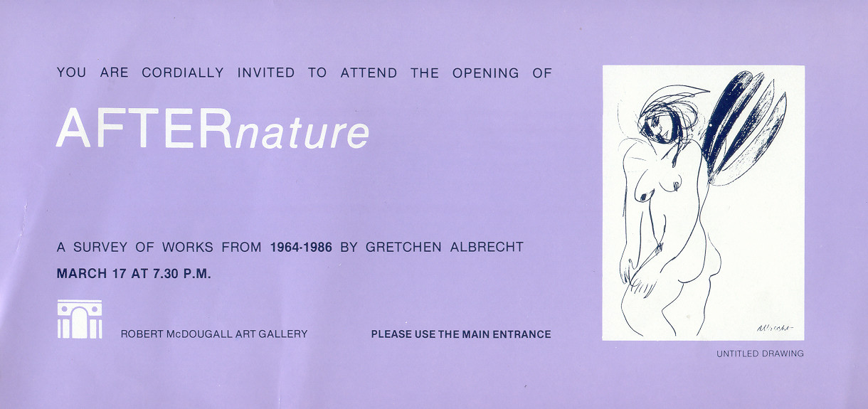 After Nature: A Survey of Works from 1964-1986 by Gretchen Albrecht