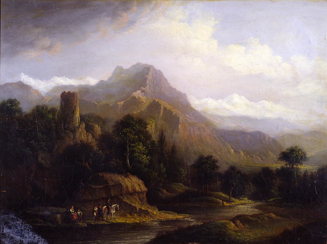 Landscape, Ruined Castle In Romantic Setting