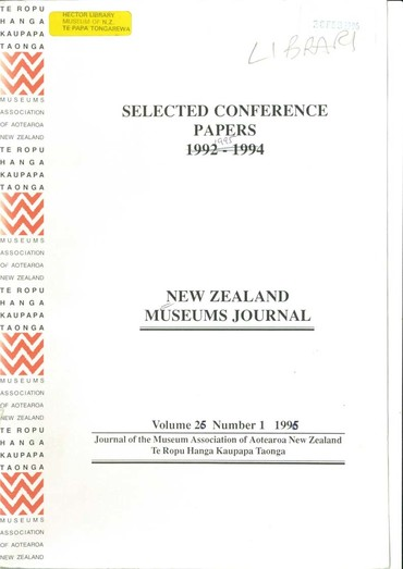 NZMJ Volume 25 Number 1 Winter 1995