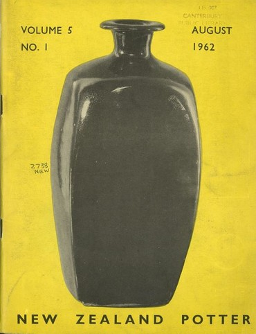 New Zealand Potter volume 5 number 1, August 1962