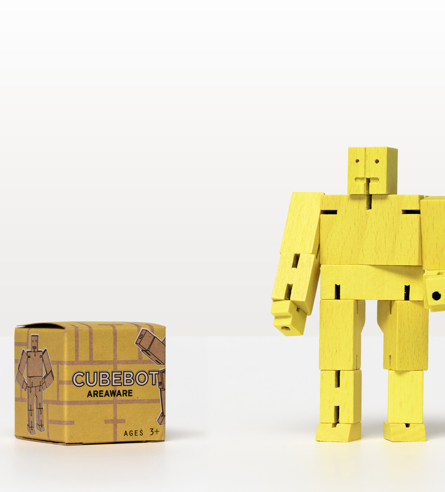 Cubebot Micro Yellow Toy