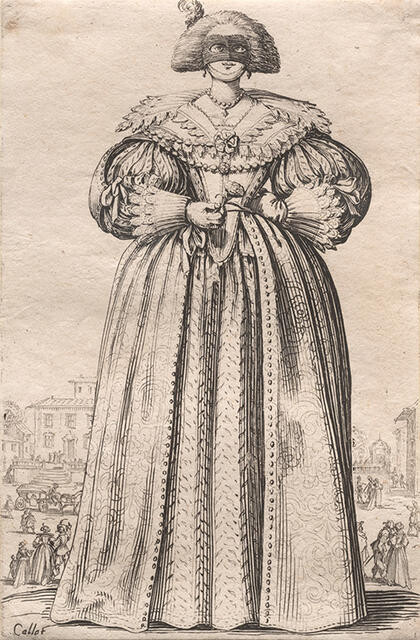La Dame au Masque (The Lady with a Mask), from La Noblesse de Lorraine (The Nobility of Lorraine)