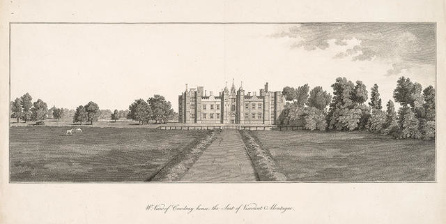 W. View of Cowdray house, the seat of Viscount Montague