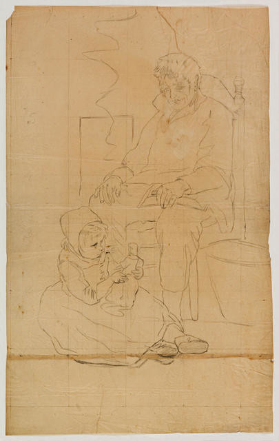 Seated Man With Child At His Feet