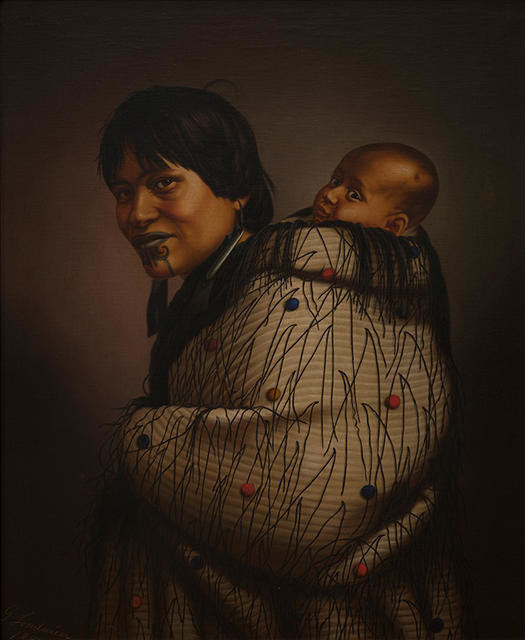 Ana Reupene Whetuki and Child (Ngāti Maru) [also known as Heeni Hirini and Heeni Phillips]
