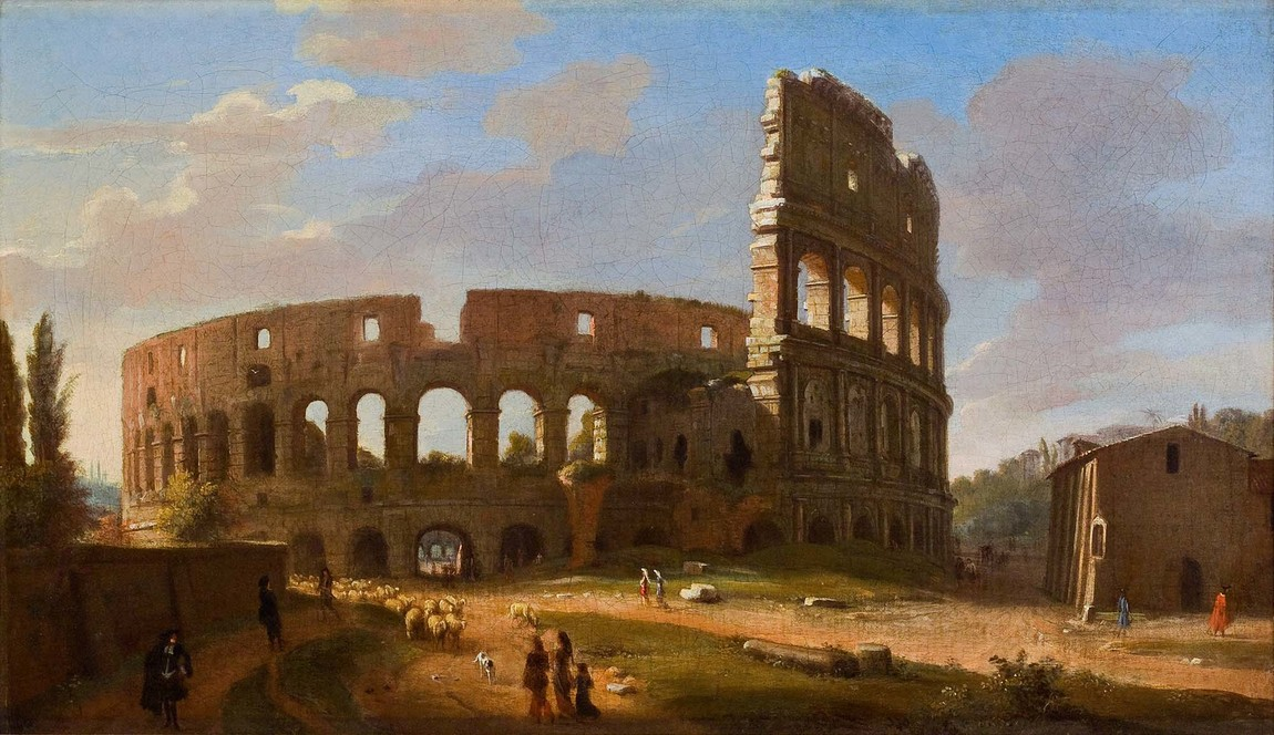 Gaspar van Wittel The Colosseum Seen from the Southeast c.1700. Oil on canvas. Collection of Christchurch Art Gallery Te Puna o Waiwhetū, purchased with assistance from the Ballantyne Bequest 1971