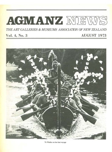 AGMANZ News Volume 4 Number 3 August 1973