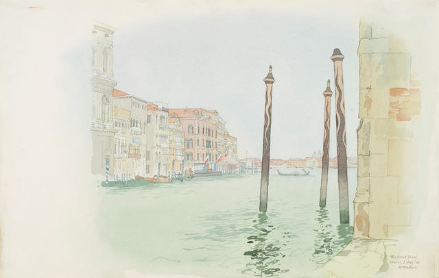 The Grand Canal, Venice 1 May 1974