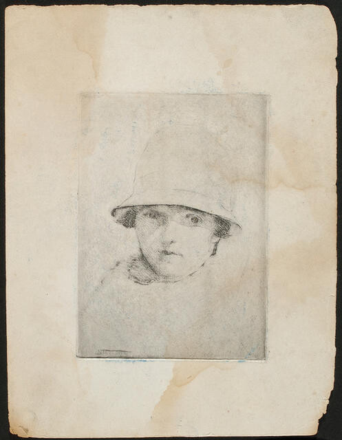 Untitled [Portrait of a woman in a cloche hat]