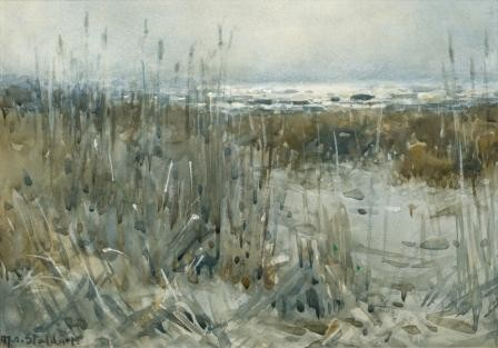Margaret Stoddart New Brighton. Watercolour. Collection of Christchurch Art Gallery Te Puna o Waiwhetū, gifted by William Ainslie Reece 2011