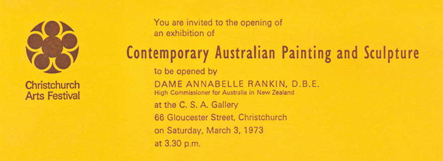 Christchurch Arts Festival 1973: Contemporary Australian Painting and Sculpture