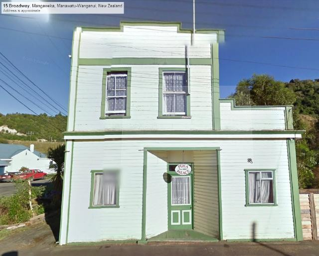The house in Mangaweka as it looked when the Google Streetview car went past in 2011.