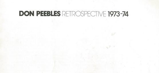 Don Peebles Retrospective 1973