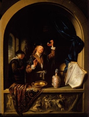 Gerrit Dou, The Physician, oil on copper