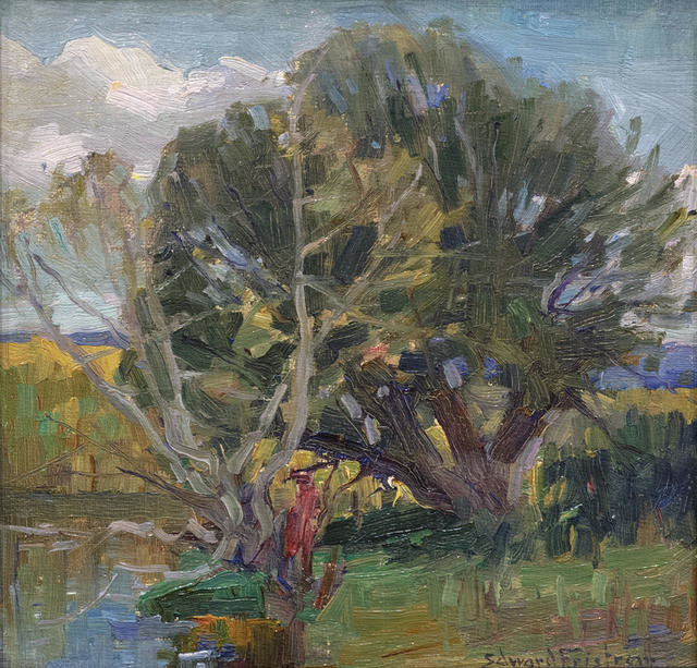 Untitled (landscape with trees)