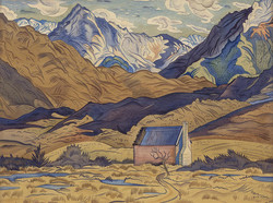 Mountains, Cass by Rita Angus