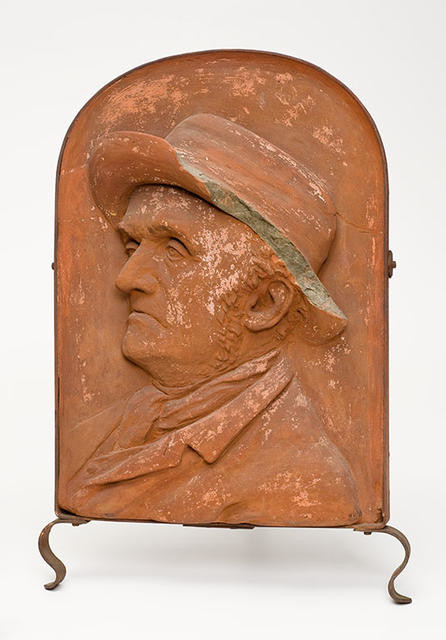 Terracotta relief - figure unknown