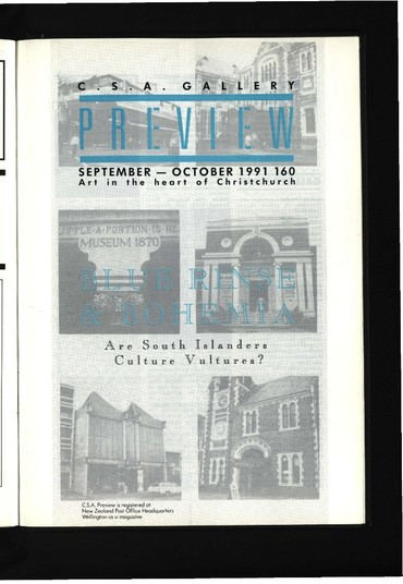 Canterbury Society of Arts Preview, number 160, September/October 1991