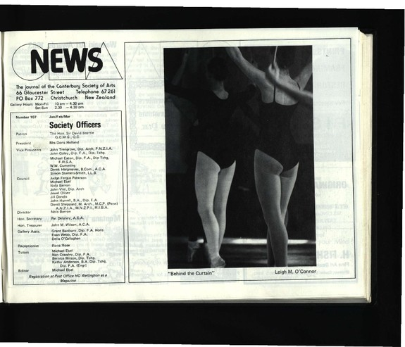 Canterbury Society of Arts News, number 107, January/February/March [1983]