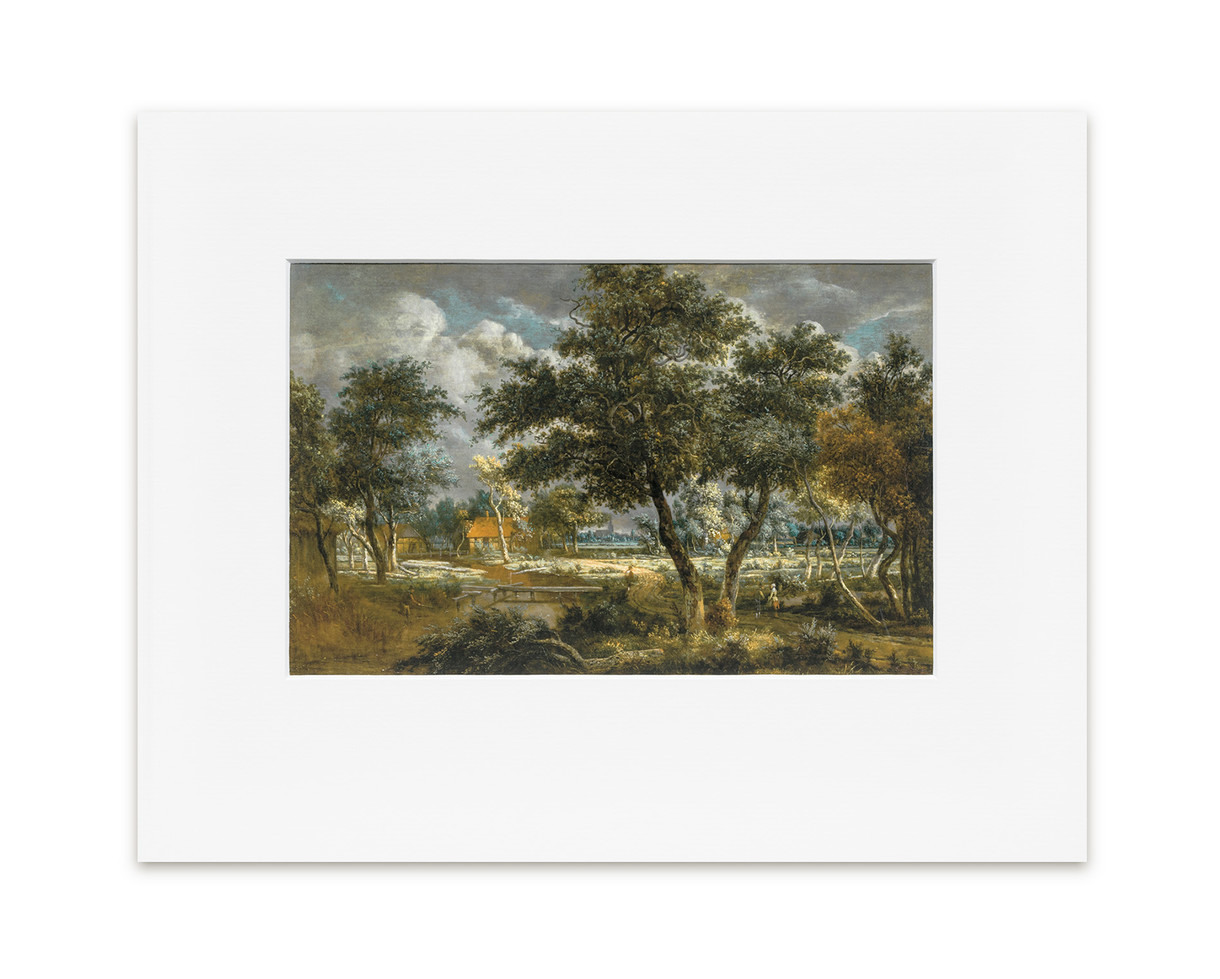 A Wooded Landscape - Print