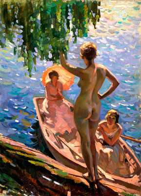 Evelyn Page Summer Morn 1929. Oil on canvas. Collection of Christchurch Art Gallery Te Puna o Waiwhetū, E Rosa Sawtell Bequest 1940. Reproduced courtesy of Sebastian Page and Anna Wilson
