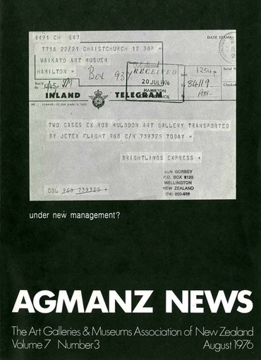 AGMANZ Volume 7 Number 3 August 1976