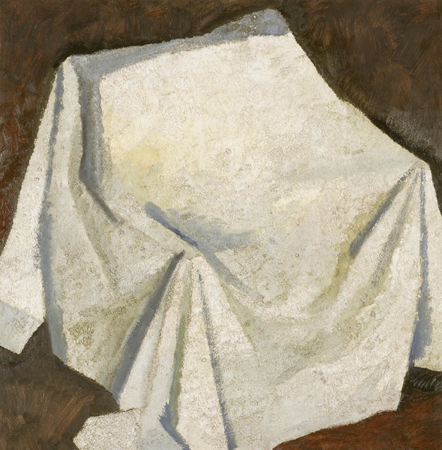 Composition with white drape