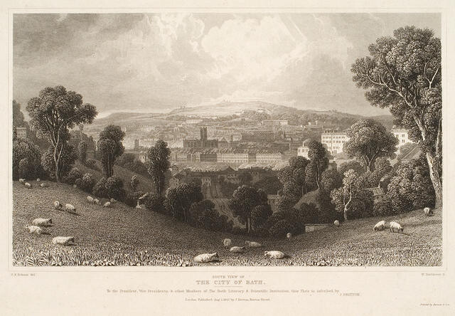 South View Of The City Of Bath