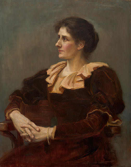 Portrait of Mrs E Marsh née Seager