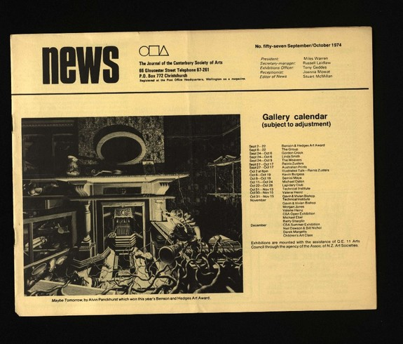 Canterbury Society of Arts News, number 57, September/October 1974