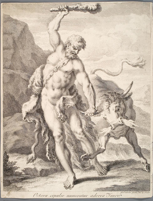 Hercules And The Bull, Labour Eight From The Labours Of Hercules